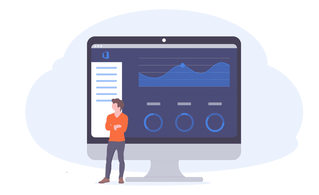 Email Security Dashboard illustration